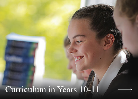 Curriculum in Years 10-11