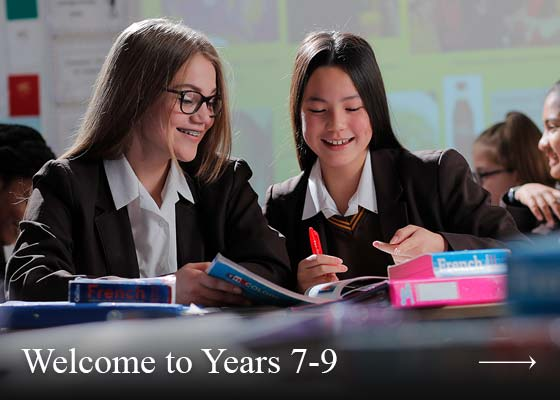 Welcome to years 7 to 9