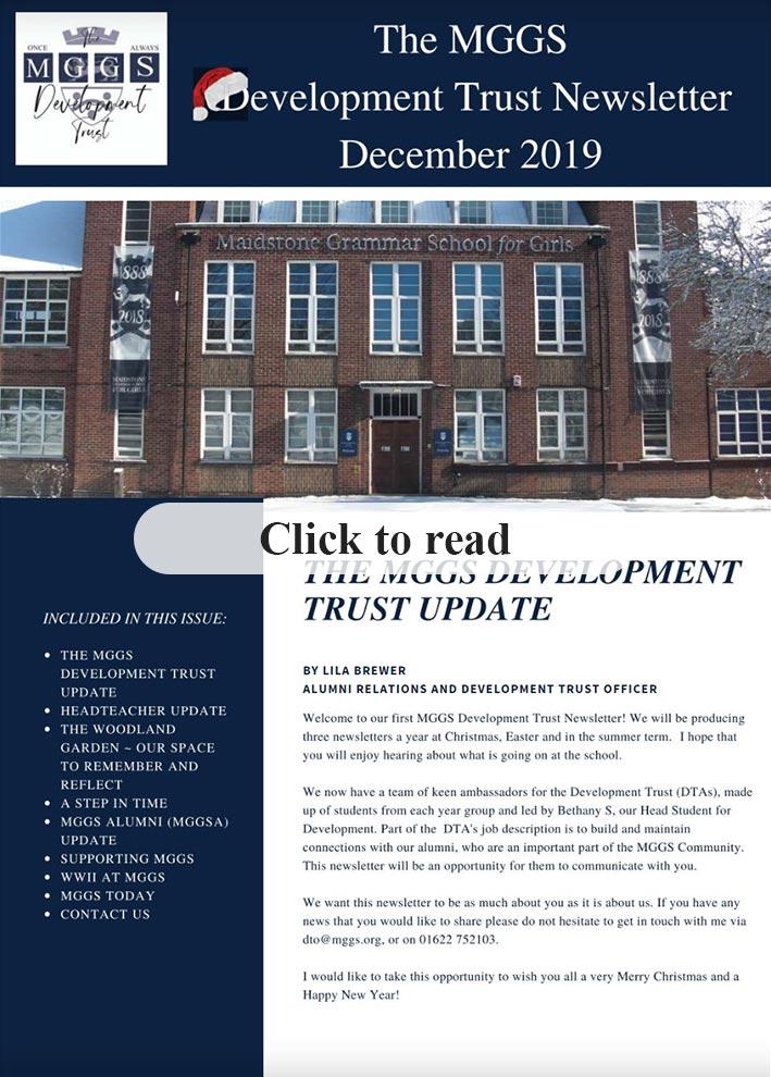 MGGS Development Trust Newsletter - December 2019