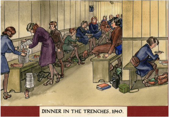 MGGS at War - Dinner in the Trenches