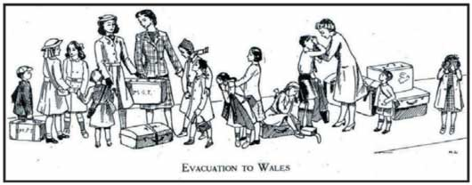 MGGS at War - Evacuation to Wales